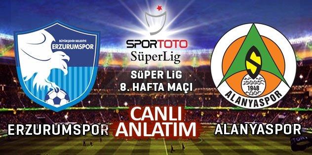 Erzurumspor - Alanyaspor (CANLI ANLATIM)