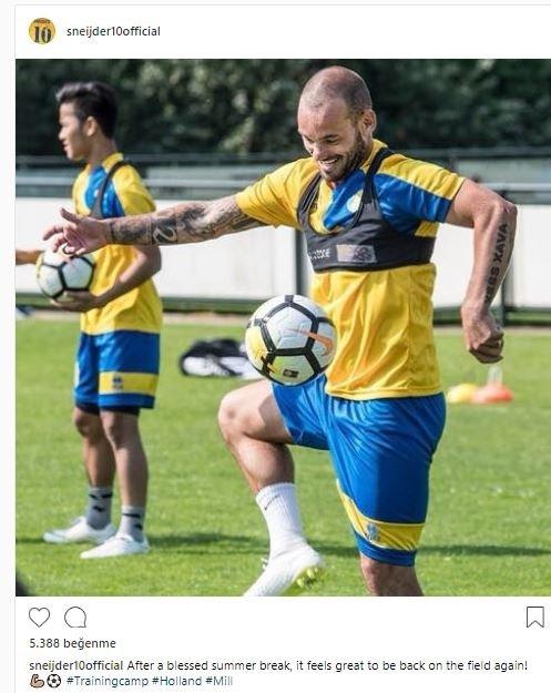Sneijder yeni sezona hazırlanıyor