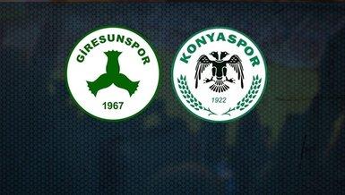 Giresunspor Konyaspor   CANLI