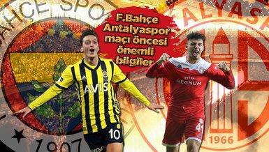 Fenerbahçe - Antalyaspor maçı ne zaman, saat kaçta ve hangi kanalda? Fenerbahçe maçı bilet fiyatları ne kadar? | FB haberleri