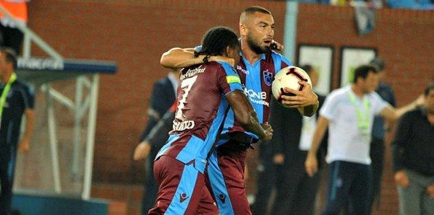 Trabzonspor'da çift forvetli sistem tuttu