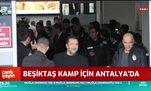 Beşiktaş kamp için Antalya'da