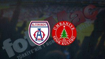 Altınordu - Ümraniyespor maçı saat kaçta ve hangi kanalda?