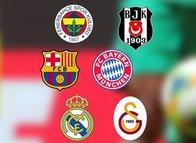 Beşiktaş, Fenerbahçe ve Galatasaray dünya devlerini geride bıraktı! İlk 10'da iki Türk takımı!