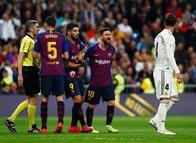 Real Madrid - Barcelona maçında Messi ve Sergio Ramos gerginliği!