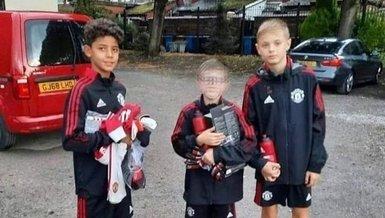 Cristiano Ronaldo'nun oğlu Manchester United'da!