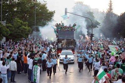 Bursaspor'un şampiyonluk turu