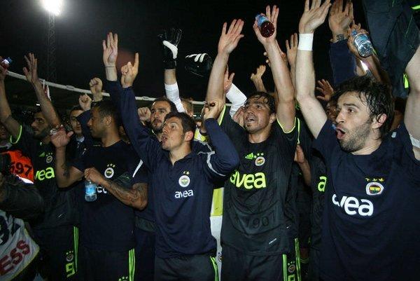 Fenerbahçe'nin maç sonu sevinci