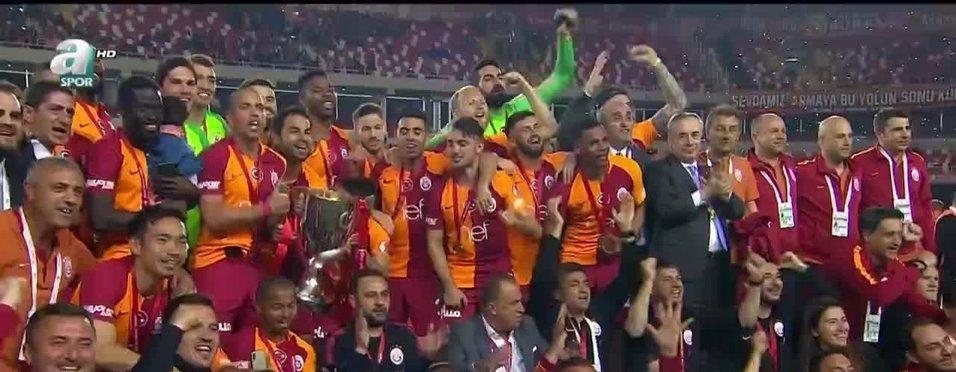 Galatasaray'da kupa coşkusu