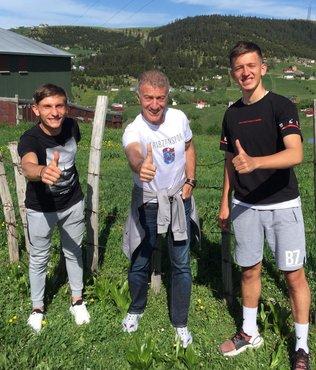 Trabzonspor Başkanı Ahmet Ağaoğlu'ndan Serkan Asan ve Kerem Baykuş'a ziyaret