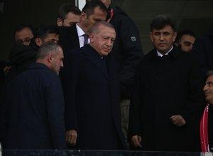 Başkan Erdoğan Türkiye - Moldova maçı için Yeni Eskişehir Stadyumu'nda