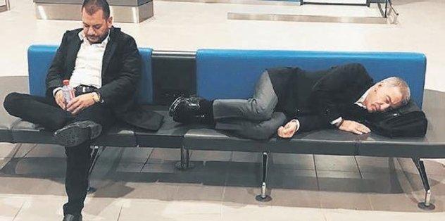 Yorgun düştüler