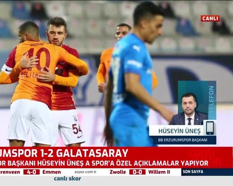 Erzurumspor Başkanı Hüseyin Üneş: Galatasaraylılar bile Arda Kardeşler'den utanıyor