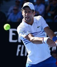 Top seed Djokovic in quarterfinal