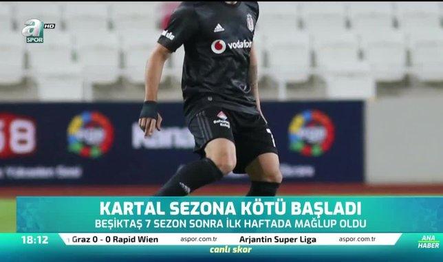 Beşiktaş sezona kötü başladı