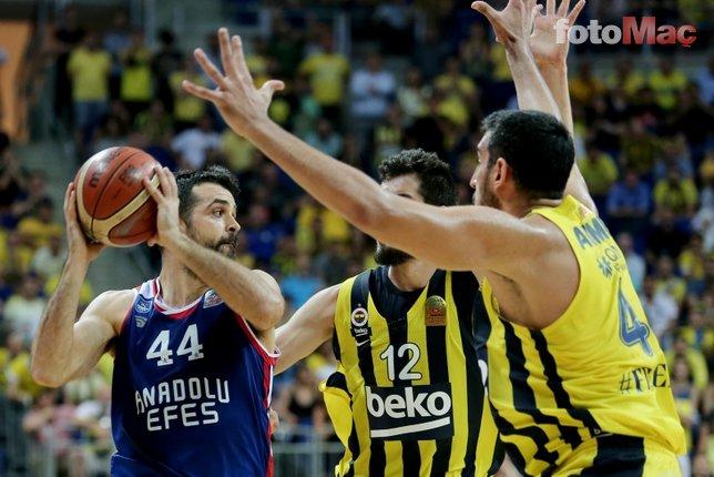 Fenerbahçe Beko - Anadolu Efes maçından kareler...