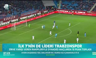 İlk 7'nin lideri Trabzonspor!