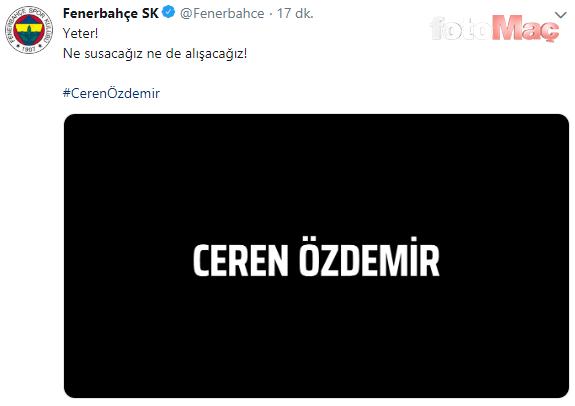 Takımlardan Ceren Özdemir cinayetine tepki!