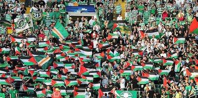 Celtic taraftarından Filistin'e destek