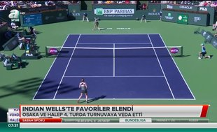 Indian Wells'te favoriler elendi