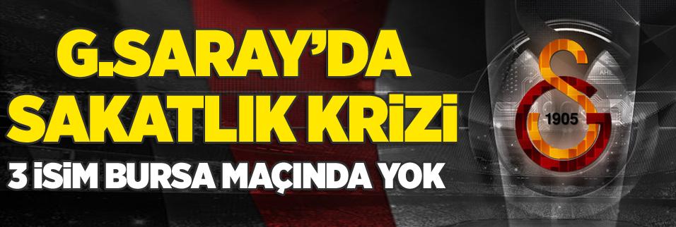 Galatasaray'da sakatlık krizi! 3 isim birden...