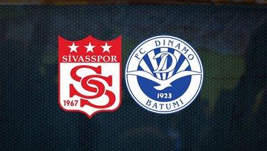 Sivasspor Dinamo Batum maçı canlı