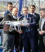 Bakan Bak, drone uçurdu