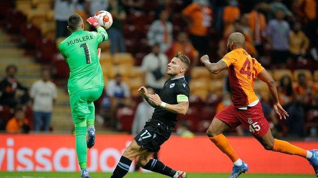 Fernando Muslera Galatasaray Lazio maçında korkuttu