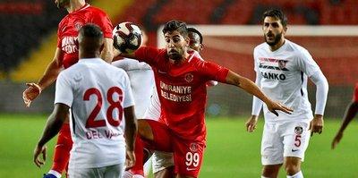 Gazişehir Gaziantep, sahasında Ümraniyespor ile 0-0 berabere kaldı