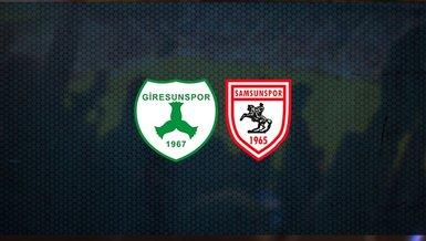 Giresunspor - Samsunspor maçı ne zaman, saat kaçta ve hangi kanalda canlı yayınlanacak? | TFF 1. Lig