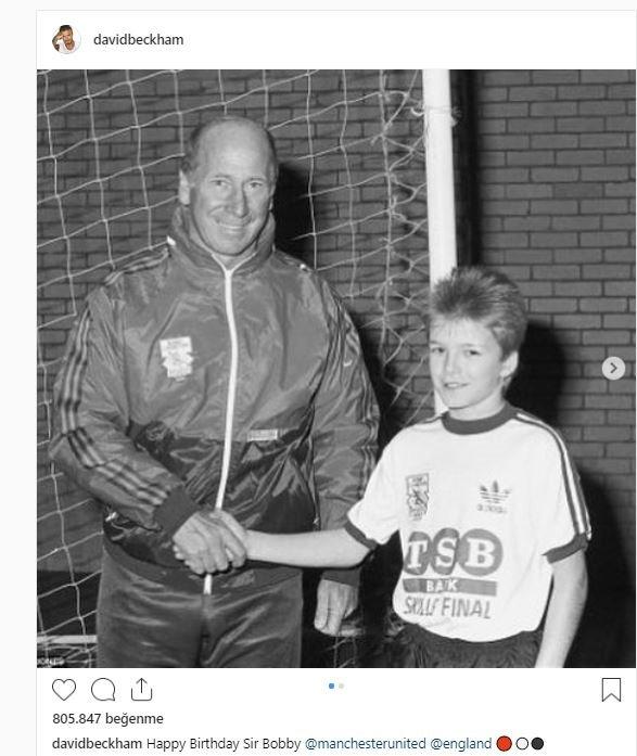 Beckhamdan Bobby Robson paylaşımı