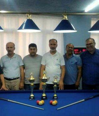 Bilardonun şampiyonu Muzaffer Kahraman