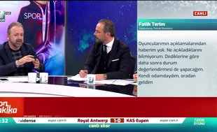 """""""Futbolcular Fatih Terim'in gitmesi için takımı sabote ediyor"""""""