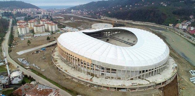 Çotanak Stadı'nın yüzde 76'sı bitti