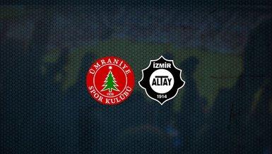 Ümraniyespor - Altay maçı ne zaman, saat kaçta ve hangi kanalda canlı yayınlanacak? | TFF 1. Lig