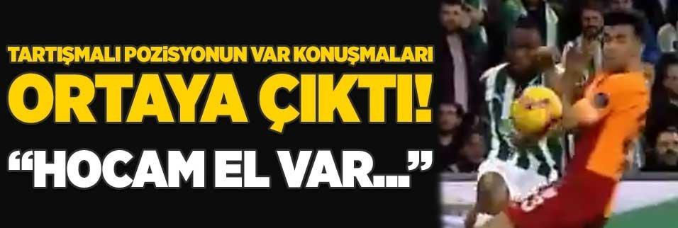"""Penaltı pozisyonunun VAR konuşmaları açıklandı! """"Hocam el var..."""""""