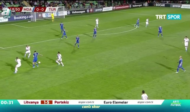 Moldova 0-4 Türkiye | MAÇ ÖZETİ