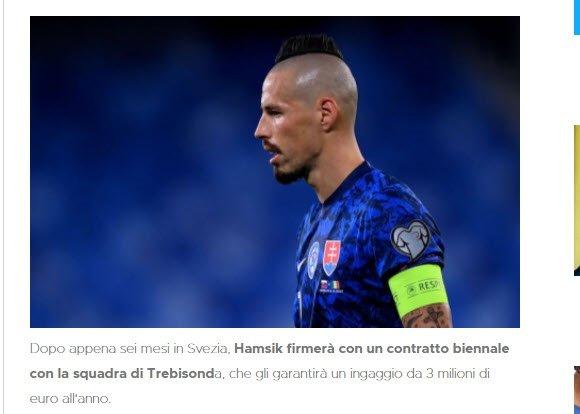 Son dakika Trabzonspor transfer haberi: Ünlü muhabir müjdeyi verdi! Marek Hamsik Trabzonspor ile anlaştı