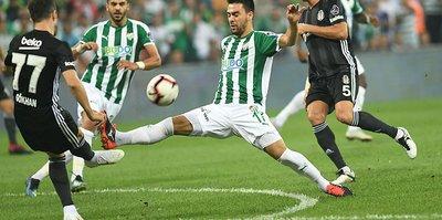 Bursaspor Beşiktaş karşısında şanssız