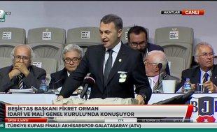 Fikret Orman Beşiktaş'ın  toplam borcunu açıkladı
