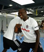Aboubakar, Beşiktaş ile ilk antrenmanına çıktı