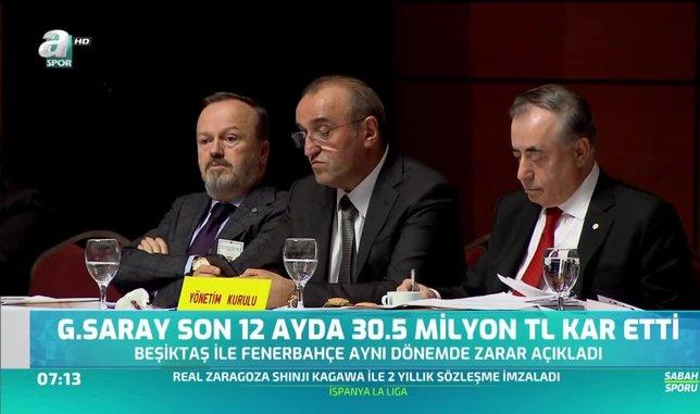 Galatasaray son 1 yılda 30.5 milyon TL kar etti