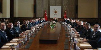 Başkan Recep Tayyip Erdoğan TFF ve Kulüpler Birliği'ni kabul etti