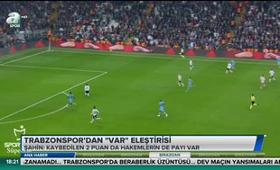 Trabzonspor'dan 'VAR' eleştirisi