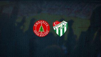Ümraniyespor - Bursaspor maçı saat kaçta ve hangi kanalda?