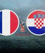 Fransa Hırvatistan final maçı ne zaman saat kaçta hangi kanalda?