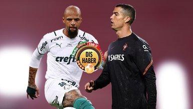 """Son dakika spor haberleri: Eski Galatasaraylı Felipe Melo'dan Cristiano Ronaldo'yu eleştirenlere sert çıkış! """"Ağzını çalkalamalı"""""""