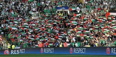 Celtic taraftarlarından Filistin'e destek