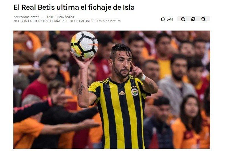 fenerbahcenin istedigi pellegrini islayi betise goturuyor 1594216697037 - Fenerbahçe'nin istediği Pellegrini Isla'yı Betis'e götürüyor