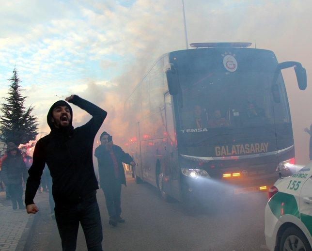 Boluda Galatasaray izdihamı yaşandı